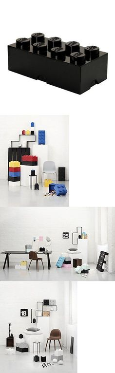 LEGO Branded Storage 183450: Black Lego Storage Brick 8 Lego Fan Gift Play Room Kids Fun Decoration Stackable -> BUY IT NOW ONLY: $39.01 on eBay! Kids Store, Toy Store, Lego Storage Brick, All Toys, Room Kids, Kids Fun, Playroom, Fan, Decoration