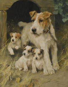 Arthur Wardle (British 1860–1949), A Family Affair.