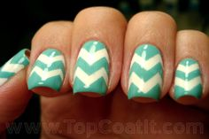 Chevrons, my new nail art obsession...