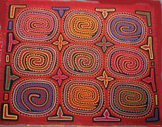 MOLA KUNA South American Reverse Applique ART Panama