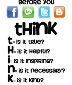 """Before You Fb Txt Tw or Blog..."" Free Printable by Shannon from technologyrocksseriously.com"