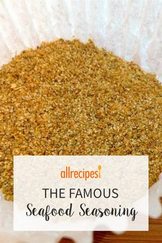 Have you run out of the famous seafood seasoning with the yellow label? Or do you just like making your own seasoning mixes? This blend goes great in all sorts of seafood dishes, plus salads and poultry dishes. Homemade Spice Blends, Homemade Spices, Homemade Seasonings, Spice Mixes, Fish Seasoning Recipe, Seafood Seasoning, Seasoning Mixes, Dry Rub Recipes, Fish Recipes