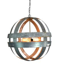 FRONT PORCH - Wine Barrel Double Ring Chandelier, Atom, Cyclopean (see Houzz idea book) $450