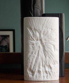 Alma-Ata white porcelain vase designed by Martin Freyer for Rosenthal Germany in 1967
