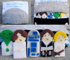 Star wars quiet book. gonna have to make one like this:)