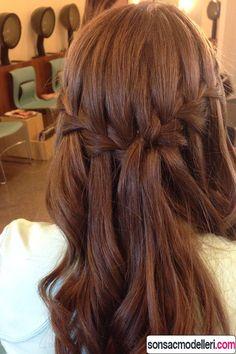 şelale örgü saç modeli
