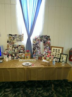 Anniversary or birthday party display photos in shape of year celebrating
