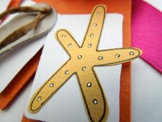 Flip Flop and Starfish Wedding Guest Book