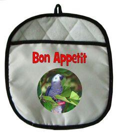 African Grey Parrot Pot Holder