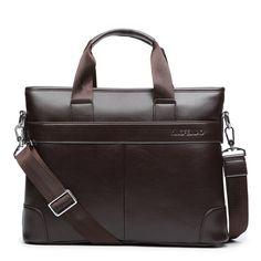 ab8d080cd3eb 2017 Men Casual Briefcase Business Shoulder Bag Leather Messenger Bags  Computer Laptop Handbag Handle Bag Men s