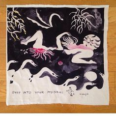 New works on paper / prints on silk by @chaufacetime on view tonight at @dayspacenight. Can't wait to see this show!