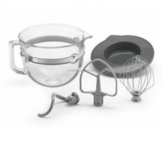 Add a new look to your Bowl Lift Stand Mixer with the glass bowl accessory bundle. This bundle includes a Glass Bowl, Coated Flat Beater, Coated Dough Hook and Wire Whisk. Fits all Wide Arm KitchenAid Bowl-Lift Stand Mixers: Kitchenaid Stand Mixer Attachments, Kitchenaid Bowl, Kitchen Aid Mixer, Kitchen Tools, Kitchen Gadgets, Kitchen Ideas, Barn Kitchen, Kitchen Small, Kitchen Supplies