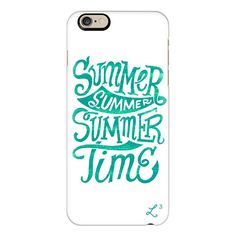 iPhone 6 Plus/6/5/5s/5c Case - Summer Summer Summer Time - Ocean Teal ($40) ❤ liked on Polyvore