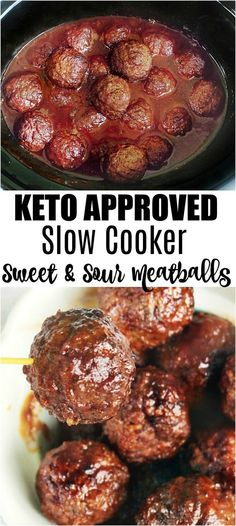 low carb slow cooker meatballs