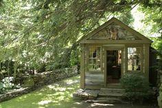 3. My dream non-desk space. Michael's Garden via Michael Trapp. #modcloth#makeitwork