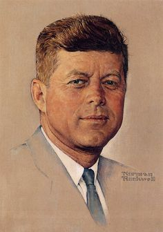 Norman Rockwell and his Paintings | Cuded Portrait of J.F. Kennedy, 1960 One of the most famous portraits of the murdered American president J.F. Kennedy. The portrait was commissioned and executed before Kennedy became the leader of the nation and while he was a Senator and a Presidential candidate.