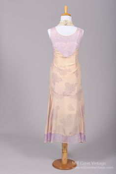 1920's Lilac Lace Silk Vintage Wedding Dress