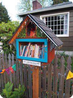 What a fun idea! Little Free Libraries scattered anywhere and everywhere. What would your Little Free Library look like? Found via The Knock-Knock Factory