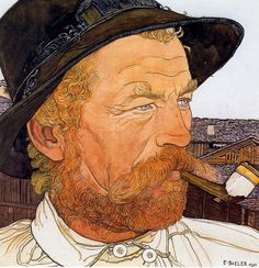 "hairymouthfuls: "" Biéler: A Ginger Man. Guy Drawing, Painting & Drawing, Art Nouveau, Beard Art, Ernest, European Paintings, Vintage Artwork, Watercolor Portraits, Artists Like"