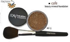 ITAY Beauty 100 Natural Mineral 9gr Color  MF3 Cafe Foundation    Application Brush pink undertone * Read more reviews of the product by visiting the link on the image.