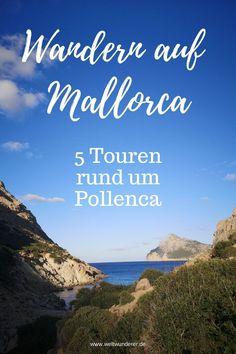 Wenn wir Urlaub auf Mallorca machen, dann immer im Norden. Diese Ecke  der Insel bietet wunderschöne Strände und tolle Gelegenheiten zum  Wandern mit Kindern. Wir zeigen euch unsere 5 liebsten Wanderungen rund  um Pollença und Alcúdia. #Mallorca #Alcudia #Pollenca #MallorcaWandern  #WandernmitKind Menorca, Places, La Gomera, Teneriffe, Beautiful Landscapes, Travel Report, Travel Inspiration, Lugares