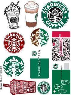 Starbucks logo and rewards card printable Sticker Printable, Printable Planner, Planner Stickers, Printables, Free Printable, Starbucks Crafts, Starbucks Logo, Starbucks Birthday Party, Diy And Crafts