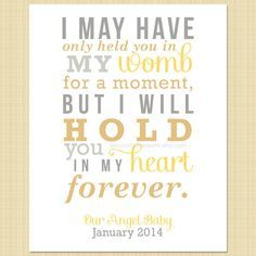 I may have only held you...for a moment - Memorial Print (miscarriage, stillborn, infant, child loss) on Etsy, $10.00