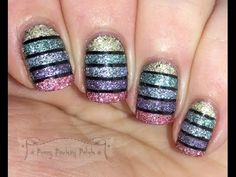 Penny Pinching Polish: A2Z: T is for.......Texture (tape mani with video tutorial)