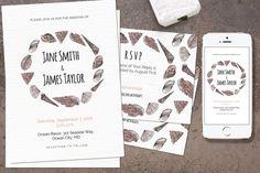 Seashell Wedding Invitation ~ Invitation Templates on Creative Market