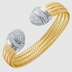 MLC8360YWZ - CZ CUFF, VICTORIA, 12MM Gold Jewelry, Cuff Bracelets, Victoria, Jewels, Jewerly, Gold Jewellery, Gemstones, Fine Jewelry, Gold Bridal Jewellery