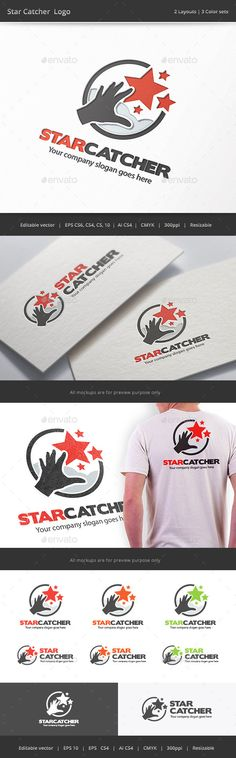 Star Catcher Logo — Vector EPS #invent #circle • Available here → https://graphicriver.net/item/star-catcher-logo/9643936?ref=pxcr