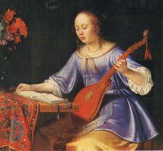 Femme au cistre ( 1677 de Pieter Cornelisz van Slingelandt) Le cistre est un instrument à cordes pincées qui semble avoir fait son apparition vers le XVe siècle