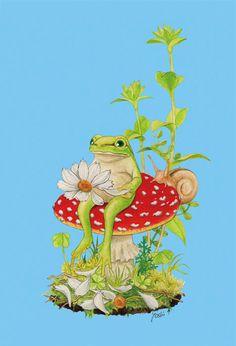花占い Funny Frogs, Cute Frogs, Frog Pictures, Frog Tattoos, Frog Art, Frog And Toad, Sea Creatures, Animal Drawings, All Art