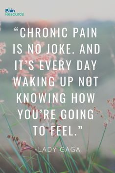 I have chronic pain similar to fibromyalgia due to Addison's Disease. In her cover interview for the October 2018 issue of Vogue, Gaga opens up about living with fibromyalgia as well as myths about other chronic and invisible illnesses that milli Chronic Migraines, Endometriosis, Chronic Illness Quotes, Fibromyalgia Quotes, Fibromyalgia Pain, Ankylosing Spondylitis, Trigeminal Neuralgia, Interstitial Cystitis, Migraine Relief