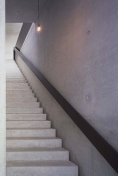 2 cement finishes + steel rail--Thomas Bendel Architekt  Berlin / House Bold