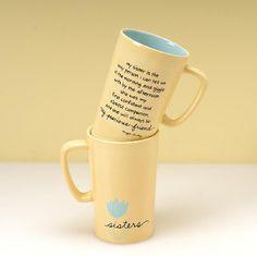 Sister Mug - Contemporary Design with Inscription