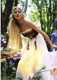pretty blonde hippie flower child