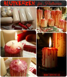 DIY Anleitung Halloween Deko (Diy Candles Tutorial)