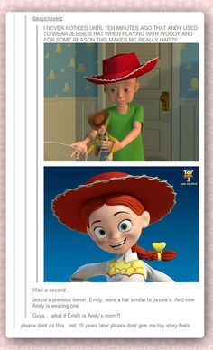 Toy Story theory… Read an article a few weeks ago that gave lots of proof this was true!