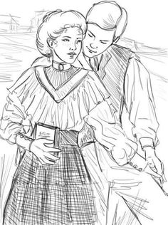 Anne of Green Gables and Gilbert Blythe Adult Coloring, Coloring Pages, Coloring Sheets, Lucas Jade Zumann, Anne Of The Island, Gilbert And Anne, Gilbert Blythe, Anne With An E, Anne Shirley