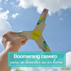 O bumerangue é um brinquedo caseiro para curtir o ar livre fácil de fazer a partir do molde e vocês vão amar este momento muito divertido em família