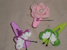 Rendas da Mãe: Ganchos para cabelo em crochet