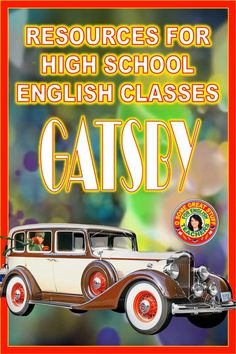 STUDENTS LOVE GATSBY! Set in the Roaring 20's students are captivated by the atmosphere and mood of this classic novel. Universal themes, love, deceit, poverty & wealth, and the American Dream keep kids engaged. Explore resources for teaching &learning: reading and discussion guides, assessments, creative activities, collaborative projects. All you need is included with no prep. Pdfs are digital-enabled for online or in-class learning. Printable and digital. Engaging, relevant, compelling. High School English, English Class, All You Need Is, Creative Activities, Teacher Pay Teachers, The Great Gatsby, Scott Fitzgerald, Classroom Resources, Deceit