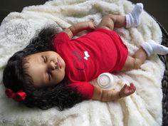 AA / Ethnic Reborn Baby Girl for sale - Shamya Grace Reborn Dolls For Sale, Baby Dolls For Sale, Reborn Baby Boy Dolls, Life Like Baby Dolls, Life Like Babies, Newborn Baby Dolls, African American Baby Dolls, American Girl Crafts, Baby Doll Nursery