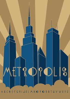Typographie : Elle est gratuite et elle s'appelle « Metropolis »   more