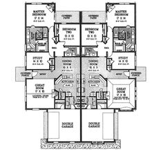 This european design floor plan is 3966 sq ft and has 3 bedrooms and has 2 bathrooms. Cottage House Plans, Craftsman House Plans, Country House Plans, Dream House Plans, Modern House Plans, Small House Plans, Duplex Floor Plans, Apartment Floor Plans, House Floor Plans