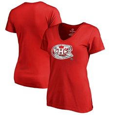 Montreal Canadiens Fanatics Branded Women's Plus Sizes Canada Wave T-Shirt - Red