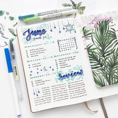 Spent literally 20 minutes to decide what style I should use for the header  I wanted a vintage vibe but I'm not sure how it turned out  The beautiful tropical themed case is from @paradiseamsterdam ❤️ • • • #bulletjournal #bujo #bulletjournalitalia #planner #journal #notebook #leuchtturm1917 #日记 #手帐 #agenda #study #studygram #studyblr #studyspo #estudio #school #doodles #stationery #stationary #mildliners #muji #crayola #bulletjournaldailylog #lettering #handlettering #handwriting