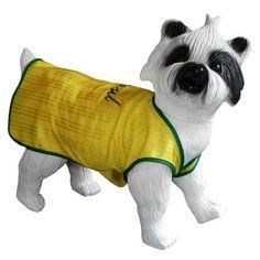 Regata Bordada Verde e Amarela Bloomer - MeuAmigoPet.com.br #petshop #cachorro #cão #meuamigopet