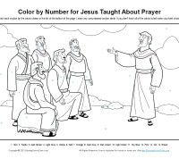 Jesus Taught About Prayer Color By Number